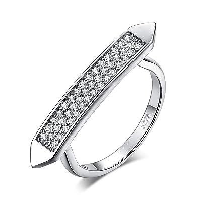 Other Fine Rings Sterlingsilber Pflastern Cubic Zirkonia Solitär-ring Größe 6