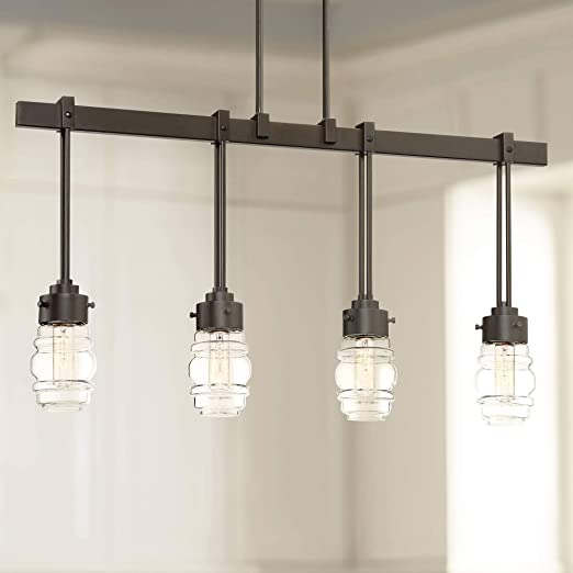 Amazon.com: Nantucket - Colgante de 4 luces de bronce ...
