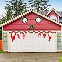 SICOHOME Halloween Monster Face Decorations,Halloween Garage Archway Door Window Car Monster Halloween Decoration