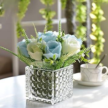 Fake Blumen Wohnzimmer Einrichtung Flower Simulation Blumen weiß und ...