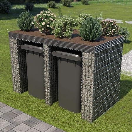 Muro de gaviones para contenedor de Basura Acero 190x100x130cmCasa y jardín Productos del hogar Accesorios para contenedores de residuos Soportes para contenedores de residuos: Amazon.es: Hogar