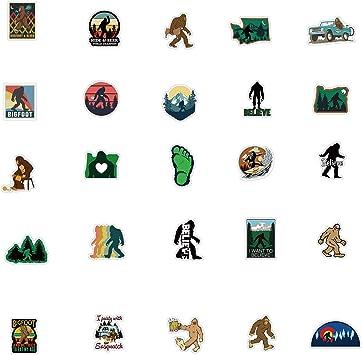 LKW Vinyl Autos Bigfoot Sasquatch Outdoor-Aufkleber f/ür Wasserflaschen 50 St/ück Laptop Fahrrad Scrapbook Motorrad Skateboard