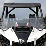 Can-am Maverick Scratch Resistant Clear Half Front Windshield w/ Clamps