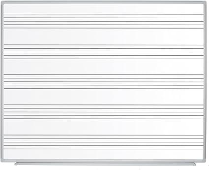 Bi-Office Maya - Pizarra blanca para música, 1500 x 1200 mm ...