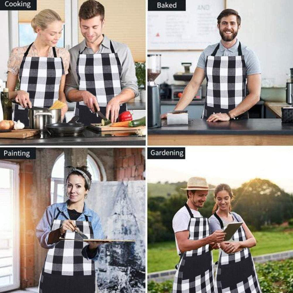 Grembiule da Cucina Grembiule Ristorante Barbecue con 1 Tasche Waterproof Multiuso da Ristorante Chef Cuoco Cameriere Barman da Lavoro Barbecue Giardinaggio Bar Parrucchiere