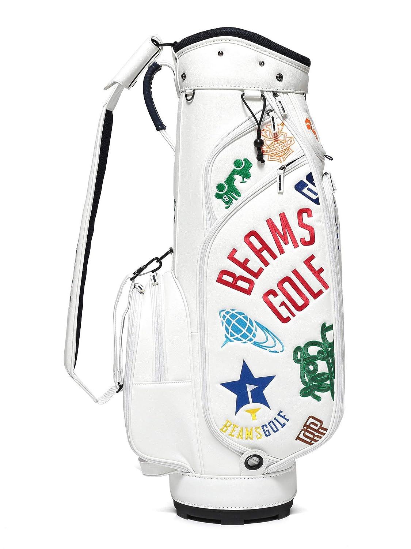 (ビームスゴルフ)BEAMS GOLF/キャディバッグ/various ロゴ キャディバッグ ユニセックス  ホワイト B07NDMN4DM