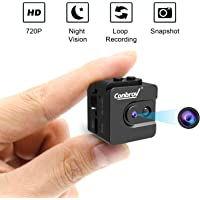 Mini Cube Security Camera, Conbrov HD16 Spy Cam, World's Smallest Portable 720P Video Recorder Camera Nanny Cam with Night Vision and Snapshot Function for Indoor Outdoor Use