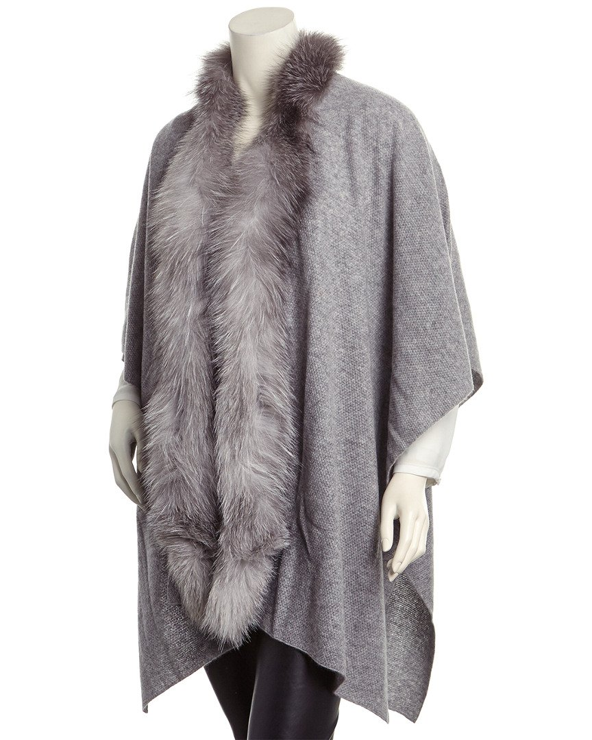 Sofiacashmere Womens Textured Cashmere Wrap, Grey