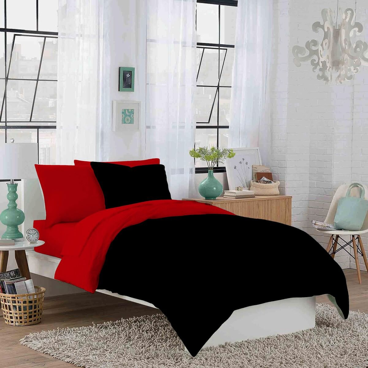 By Crescent Bedding  Black Twin XL Soft and Comfy Twin Extra Long 100/% Cotton jersey Sheet Set