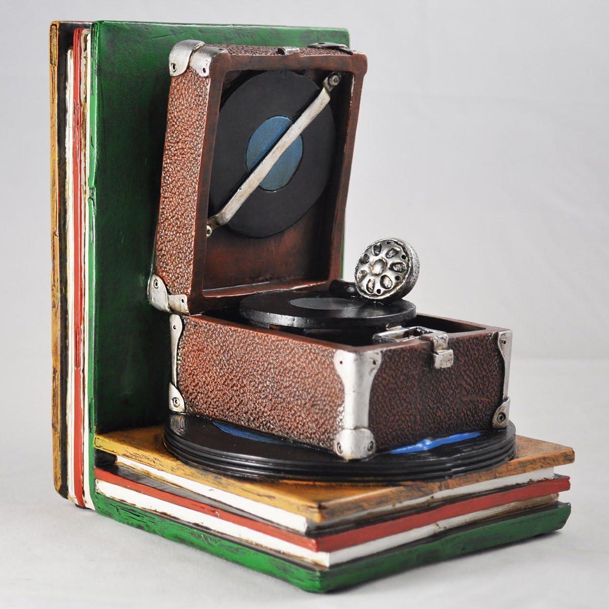 maison D/écoration vintage vinyles Pour livres Pour bureau Serre-livres en forme de disque vinyle DVD