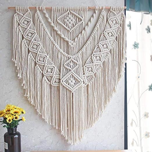 Amazon Com Lshcx Macrame Wall Hanging Driftwood Decor Boho Woven