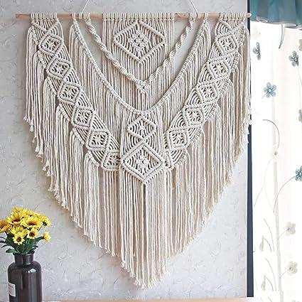 Amazon.com: LSHCX Macrame Wall Hanging Driftwood Decor Boho Woven ...