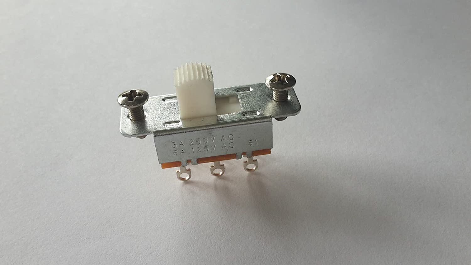 (1) Jazzmaster & Jaguar guitar slide selector switch white + screws fits fender Custom World Guitar Parts