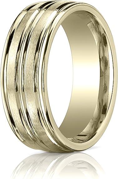 14k yellow gold,#893. size 8 Gold wedding band
