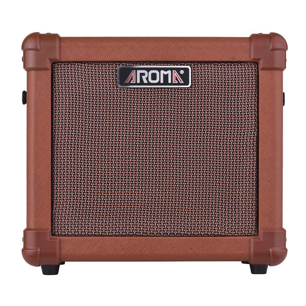 muslady amplificador para guitarra acústica 10 W portátil altavoz aroma ag-10 a con entrada de audio para micrófono: Amazon.es: Instrumentos musicales