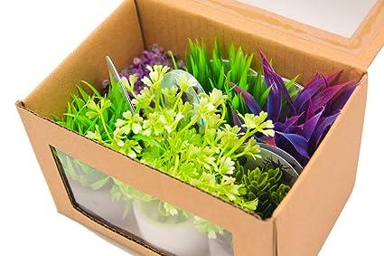 BPS (R) Planta Artificial Plástico Decoración para Pecera Acuario, decoración de la mesa