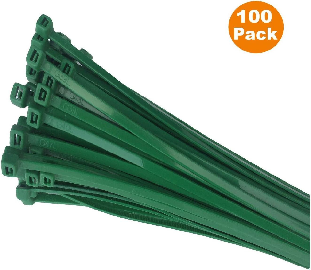 "40 pc 12/"" 300MM X 4.8MM CABLE TIES TIE WRAPS BLUE GREEN WHITE F.U.M TOOLS FUM"