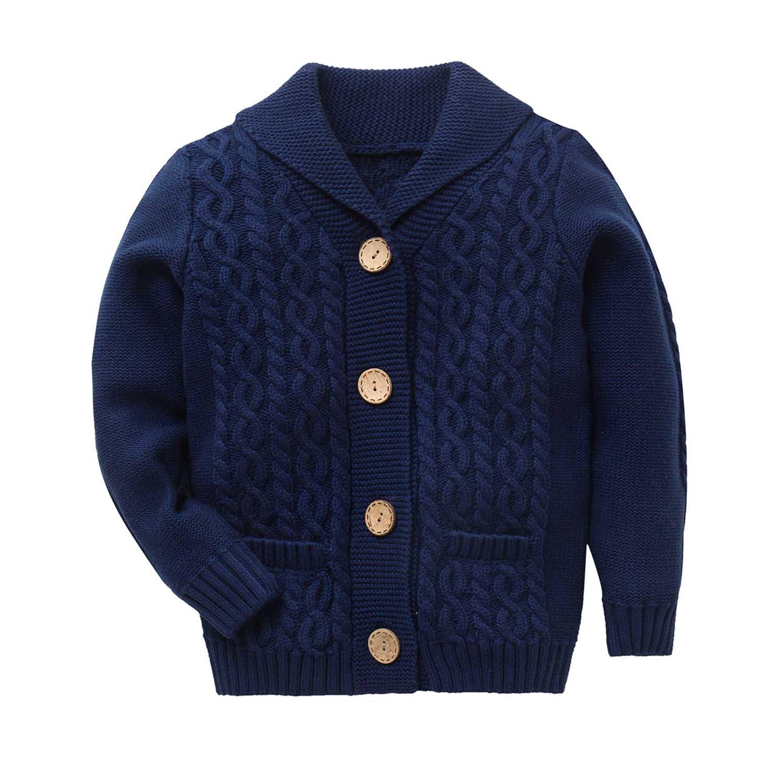 Zebra Fish Girls Sweaters Girls Button up Sweater Long Sleeve Casual Girls' Knit Cardigan 9-10YRS