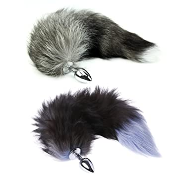 cb915eb88 Amazon.com  ZHIZI New Funny Love Faux Fox Tail Plug Romance  Beauty