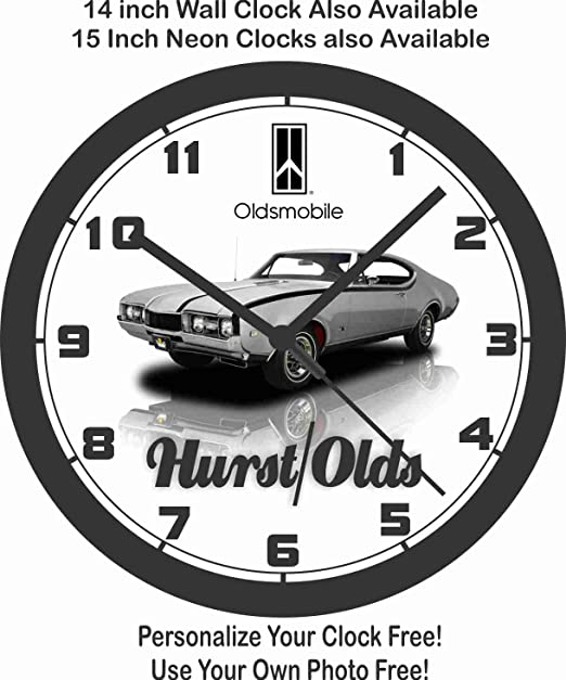 Amazon Com 1968 Oldsmobile Hurst Olds Wall Clock Home Kitchen