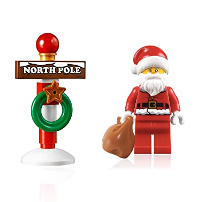 LEGO Holiday Minifigure - Santa Claus (with North Pole Stand) 10245: Toys & Games