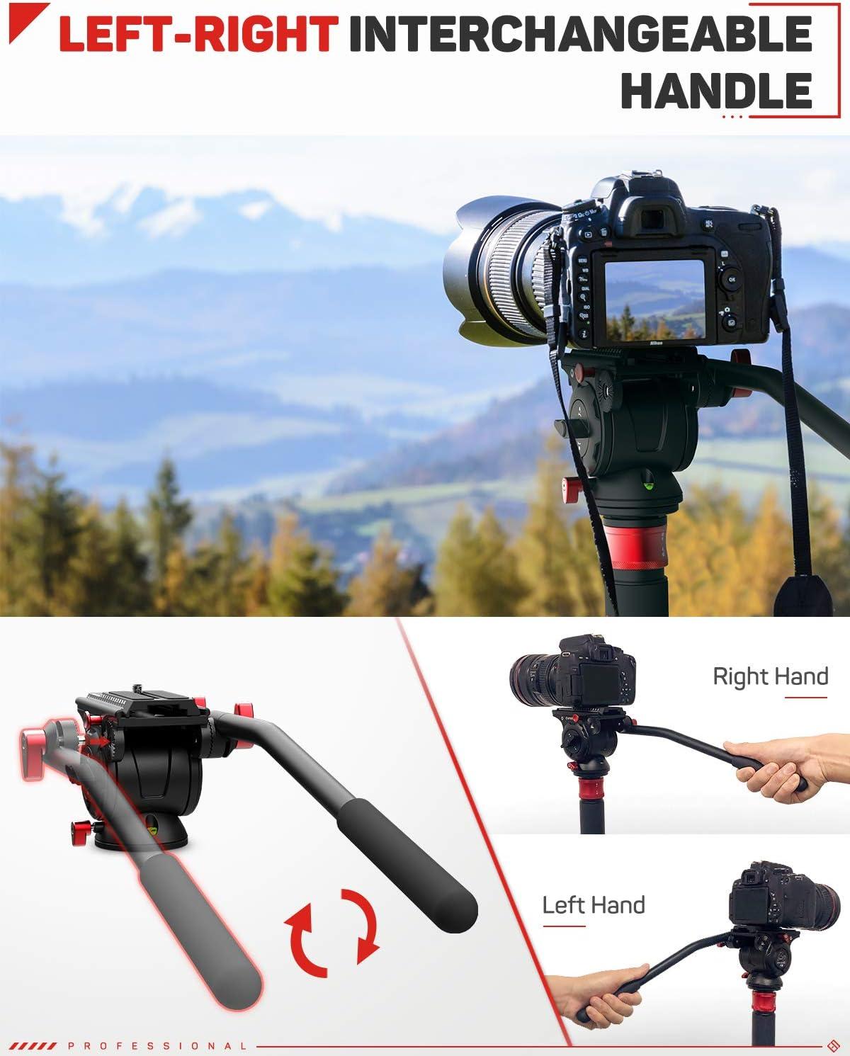 IFOOTAGE - Cabezal de trípode para cámara de vídeo, para cámara ...