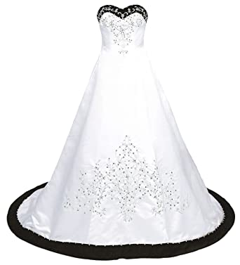 Kmformals Women\'s Vintage Satin Wedding Dress at Amazon Women\'s ...