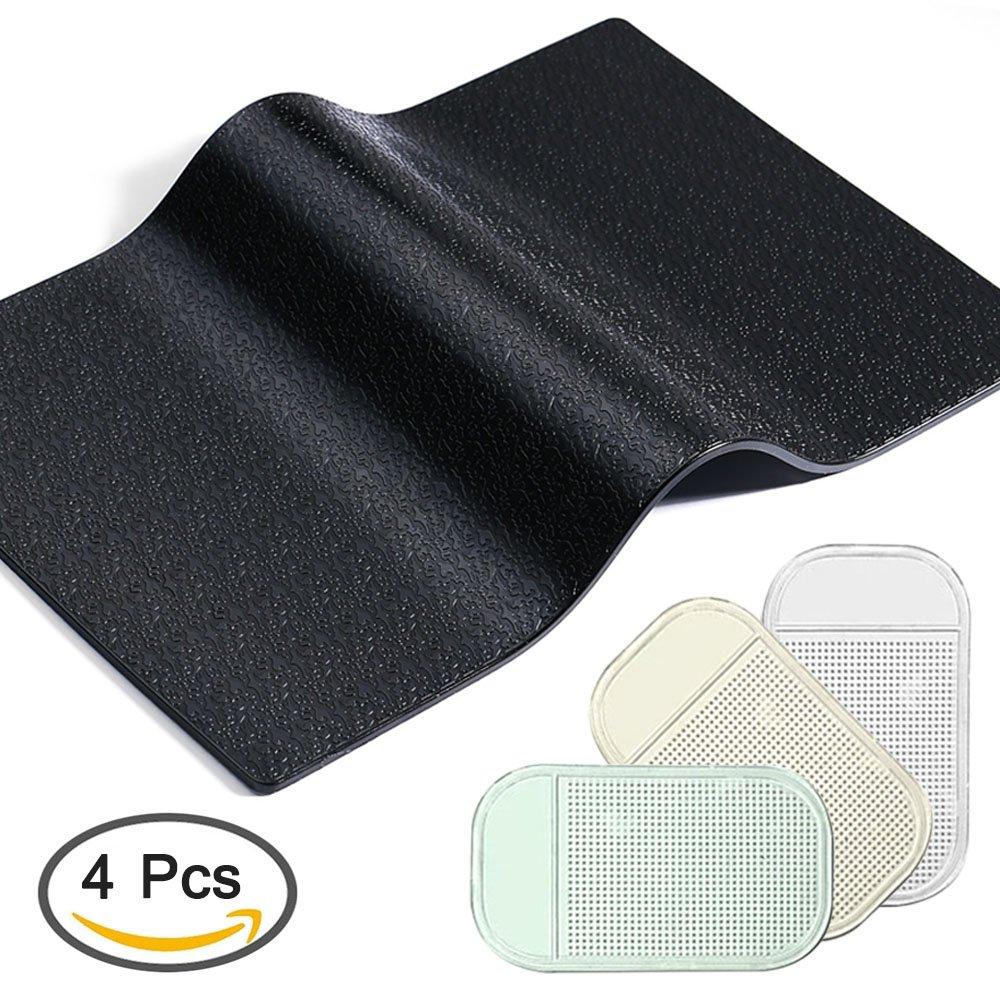 resistentes al calor AFUNTA 4 almohadillas adhesivas antideslizantes para salpicadero de coche reutilizables despu/és de lavar el polvo antideslizantes 2 tama/ños para salpicadero o tel/éfono m/óvil