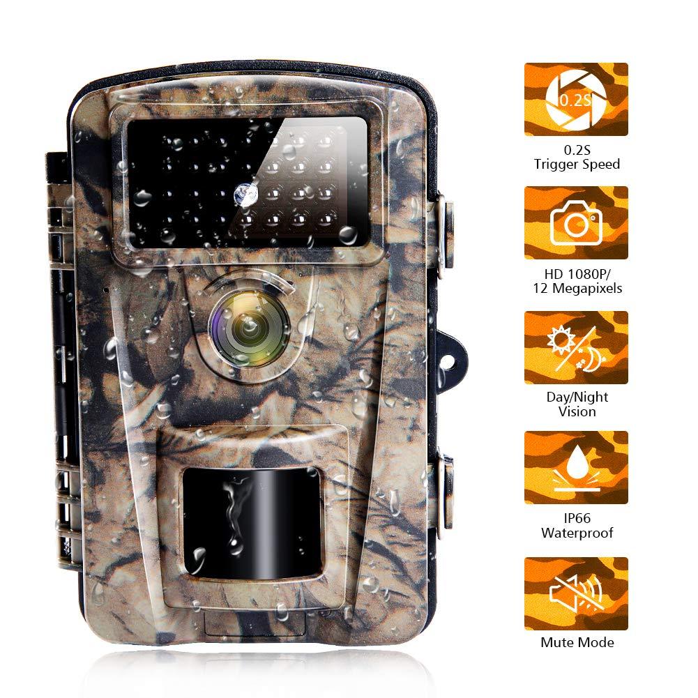 Caméra de Chasse Camera Chasse étanche avec Une Vitesse de Déclenchement de 0,2 Seconde Camera Nocturne Chasse pour la Vision Nocturne et la Sécurité du Domicile|12MP|65ft product image