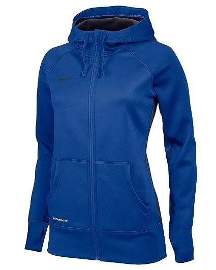 Sudadera con capucha KO con cremallera completa para mujer de Nike - Royal XS
