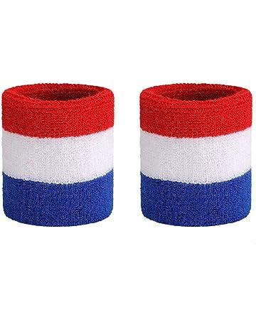 promo code 4660b 214fe ONUPGO Headband Sports Sweatbands Wristbands Terry Cloth Striped Head Band Wrist  Band Set Athletic Exercise