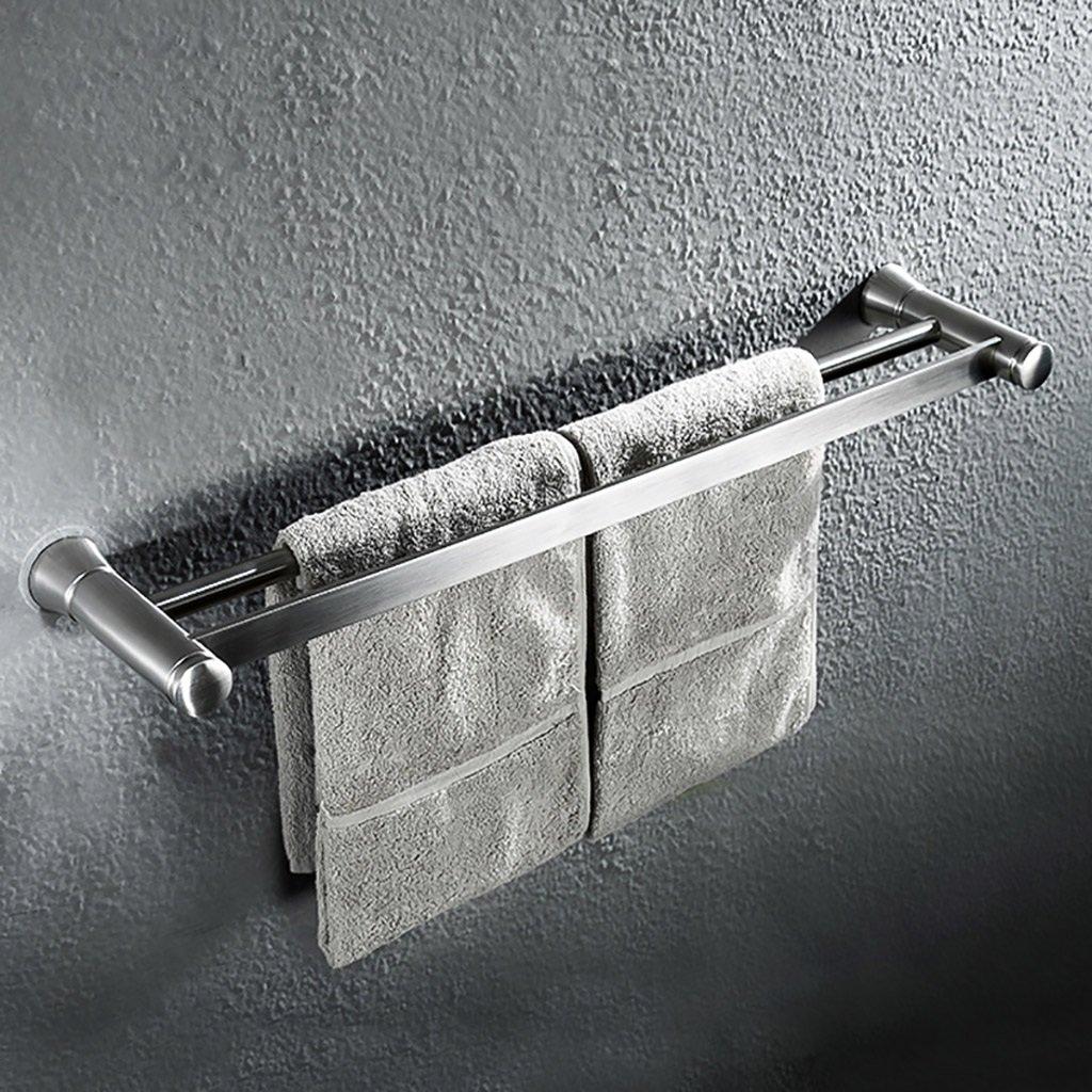 タオル棚/多機能タオル棚SUS304ステンレスタオル収納壁掛けバスタオルレール、バス用シングルタオルバー タオル棚壁取り付け B07D6S8Z9H