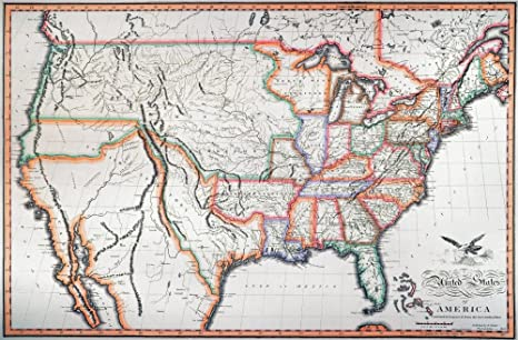 photo about Lewis and Clark Printable Map known as : Map United Suggests 1820 Nengraved Map Of The