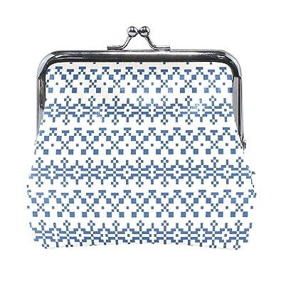 Amazon.com: Monedero de Indigo con patrón de puntadas para ...