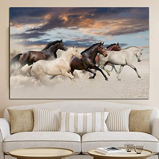 Canvas Wall Art Posters /& Prints Horses Wall Picture Wall Poster For Home Decor