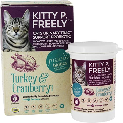 Fidobiotics Kitty P Freely Cats Urinary Tract Support Probiotic Turkey Cranberry 1 Billion CFUs 0 5 oz 14 5 g