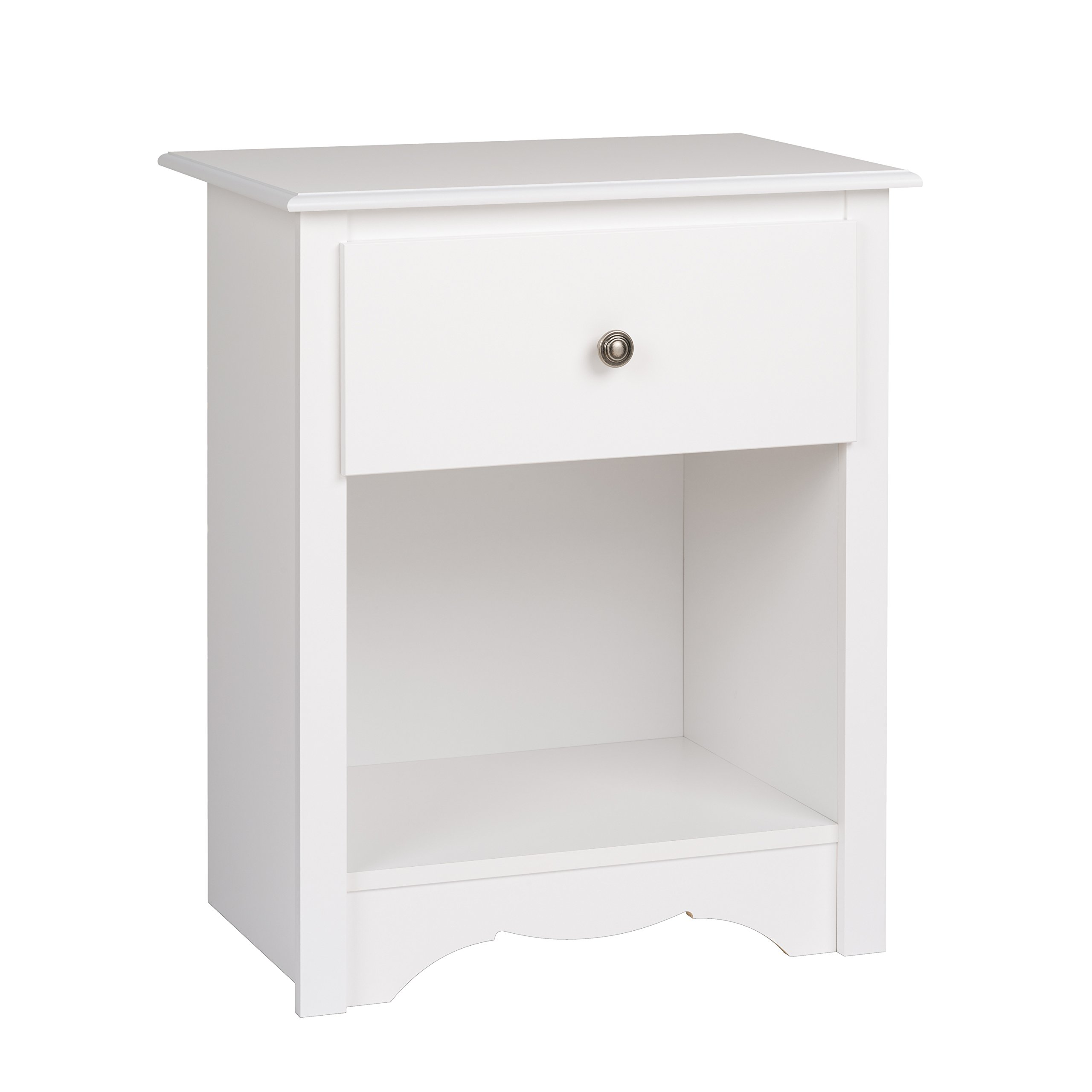 Prepac WDC-2401 Monterey Nightstand, Tall 1-Drawer, White