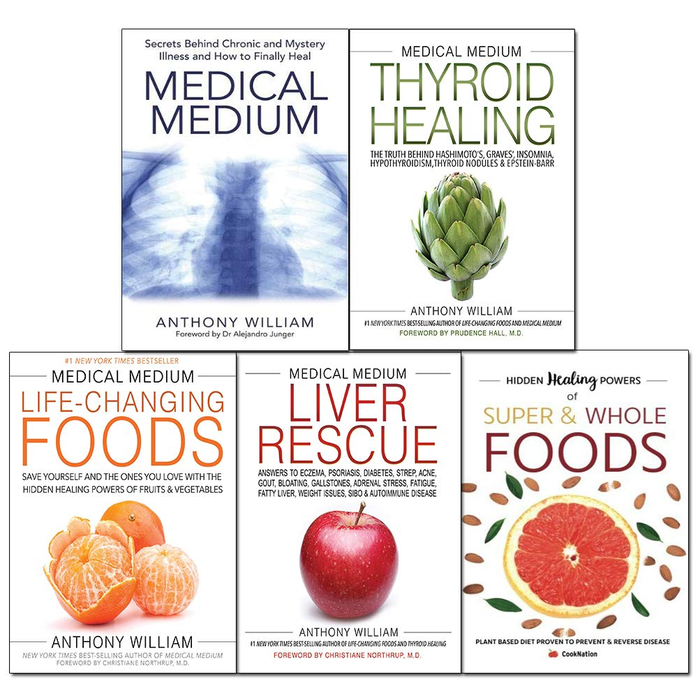 Medical Medium by Anthony William 5 Books Collection Set (Thyroid