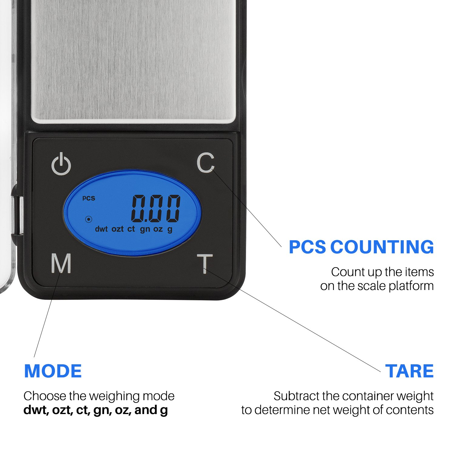 Smart Weigh ZIP600 Ultra Slim Digital Pocket Scale with Counting Feature, 600 x 0.1g by Smart Weigh (Image #2)