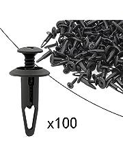 Ocr ™ 100PCS 6.3mm Push Rivets Push Hole Retainer Black Nylon Push Type Fastener Rivet Push Clips Bumper Clips Automotive Furniture Assortment Expansion Screws Assortment Kit