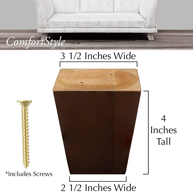 Amazon.com: ComfortStyle Legs for Furniture, Sofa Ottoman ...