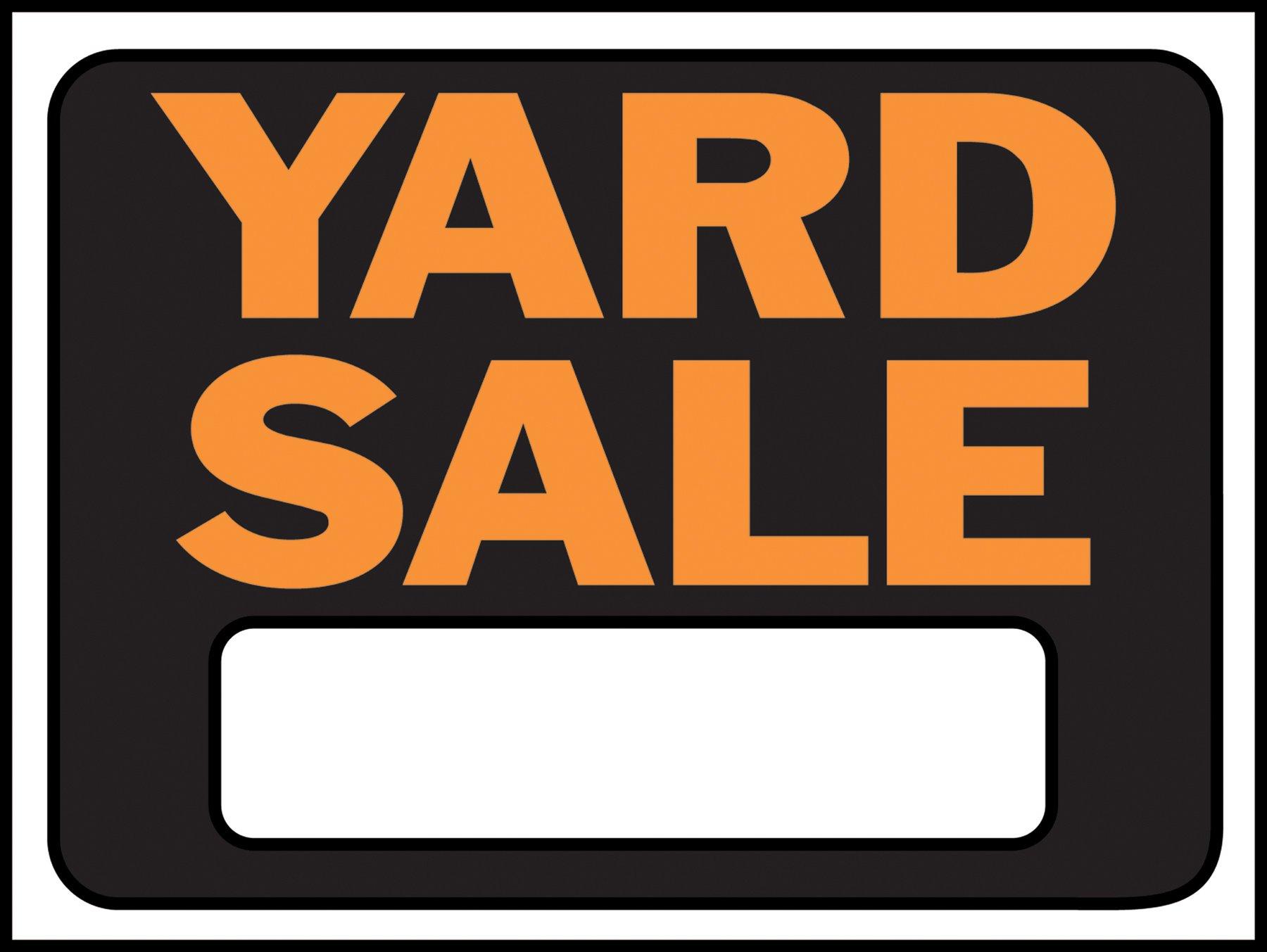 Hy-Ko Products 3033 Yard Sale Plastic Sign 8.5'' x 12'' Orange/Black, 1 Piece