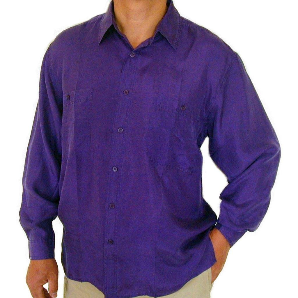 Surprise Mens 100 Silk Shirts Purple At Amazon Mens Clothing Store