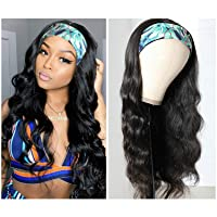 Headband Wigs for Black women Body Wave headband Human Hair Wigs Glueless Brazilian Virgin Hair None Lace Front Wigs Machine Made Headband Wigs 150% Density (14