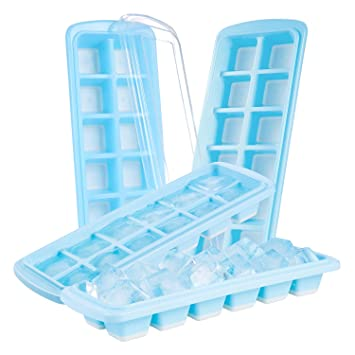 Ice Cube Tray 4 Pack Silicone Ice Cube Tray Ice Maker Trays With