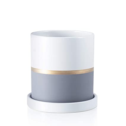 Amazon.com: Ekirlin - Cilindro de cerámica para macetas de ...