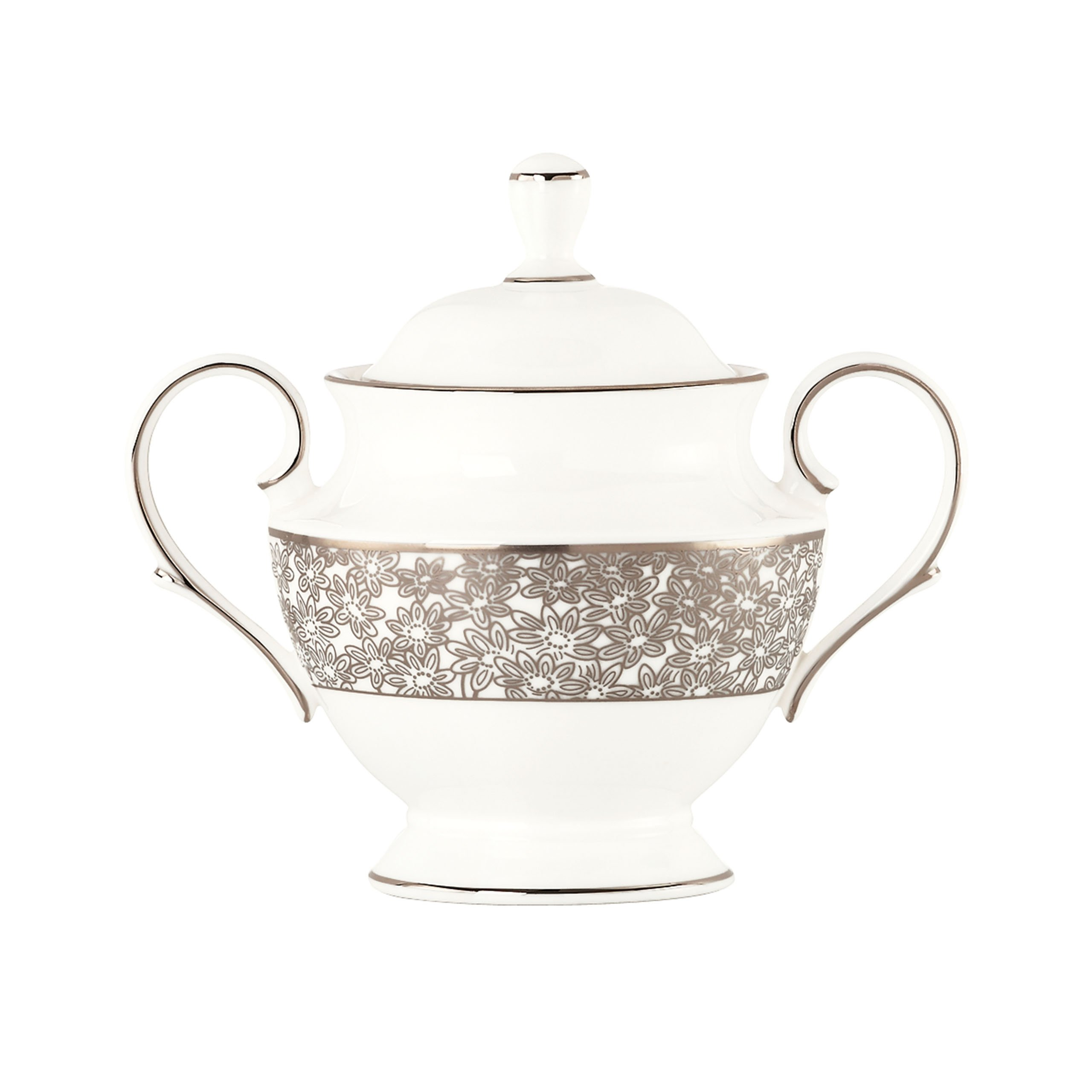 Lenox Silver Bouquet Sugar with Lid