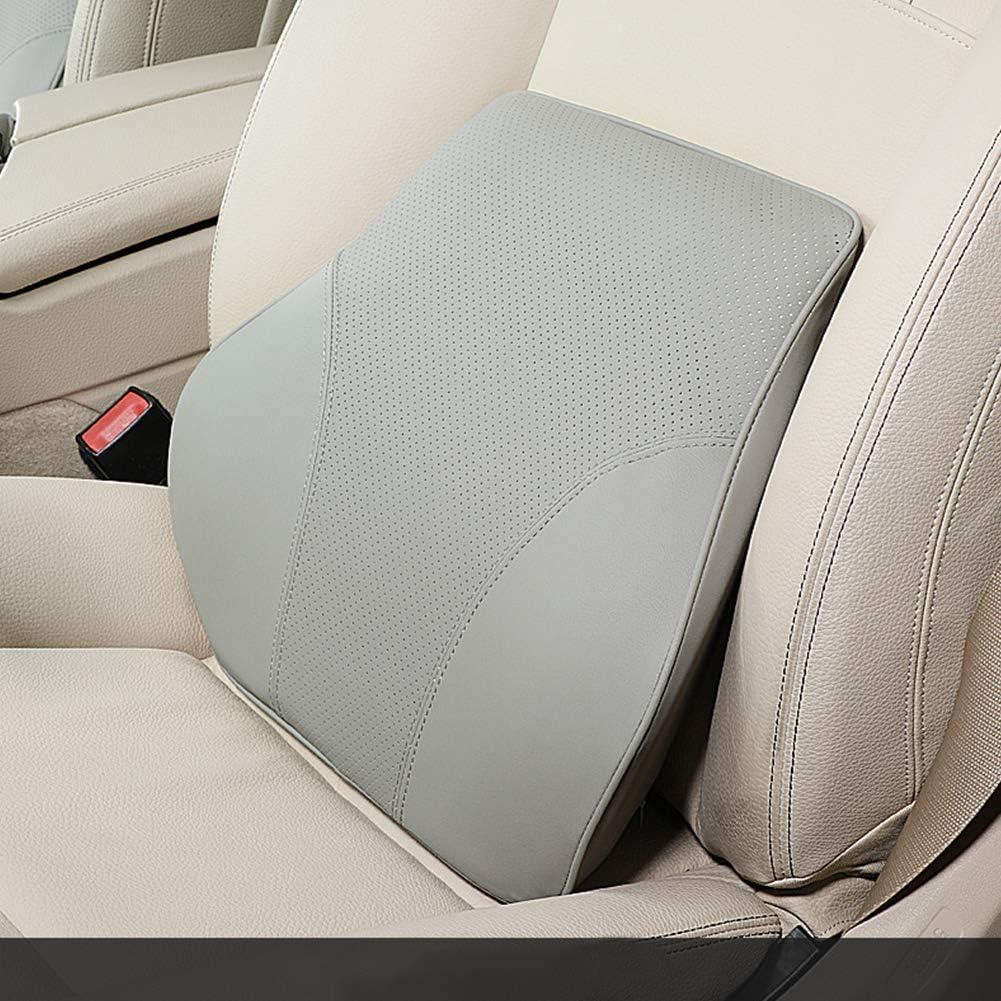 elegantstunning Farblich passende Memory Foam Cotton R/ückenst/ütze f/ür Auto-Lendenkissen f/ür Sitzst/ützen-Taillenkissen Grey