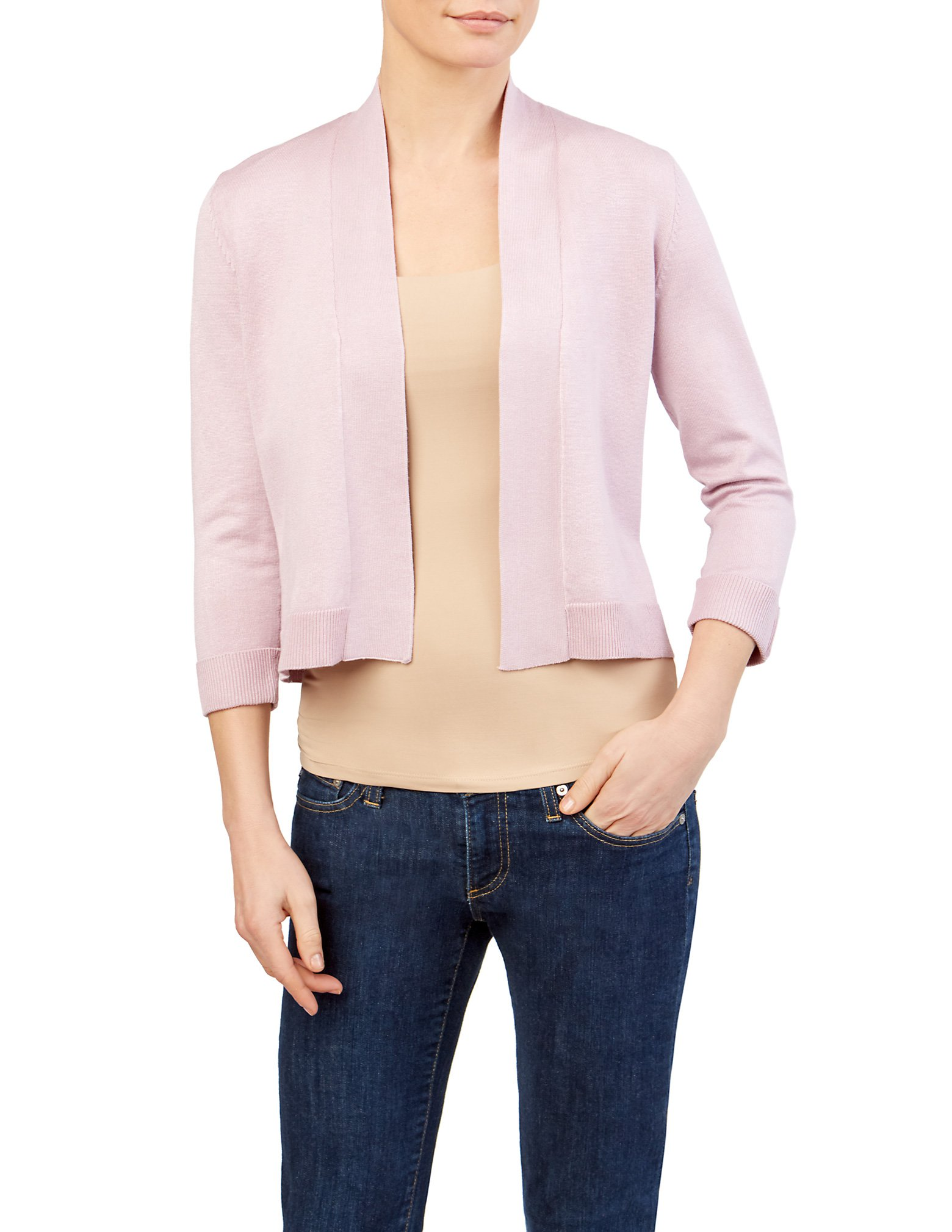 89th&Madison Notch Cuff Cardigan Shrug