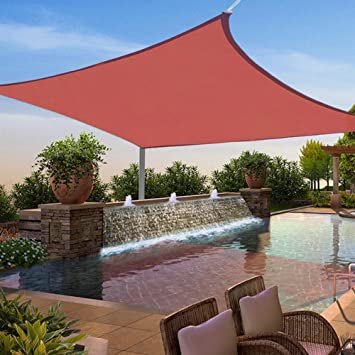 Yescom 11.5 Ft Square Sun Shade Sail Top Outdoor Canopy Patio Cover Red